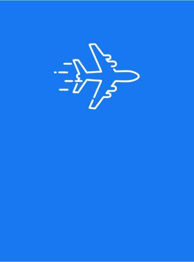 Lėktuvas mėlyname fone