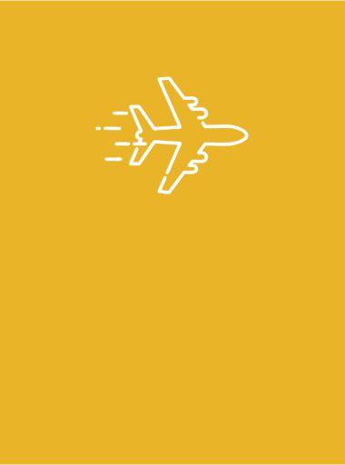 Lėktuvas geltoname fone